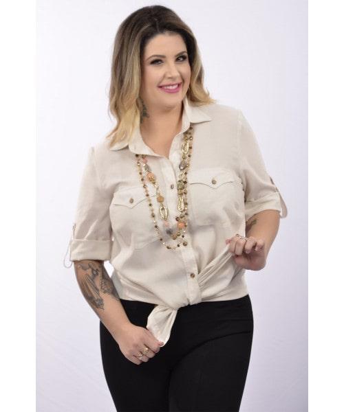 """Camisa em Cambraia de Linho """"MOTHER NATURE"""""""