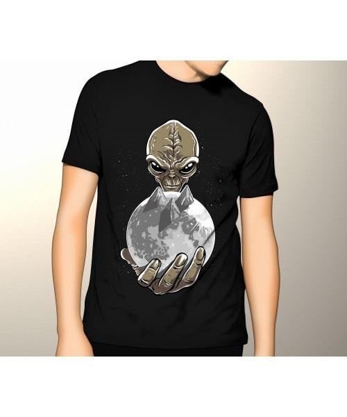 Camiseta ETs na Lua (Brilha no Escuro)