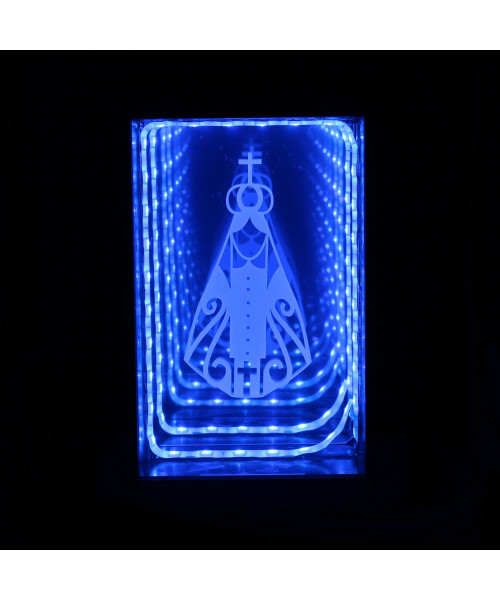 Luminária Fundo Infinito: Nossa Senhora Aparecida