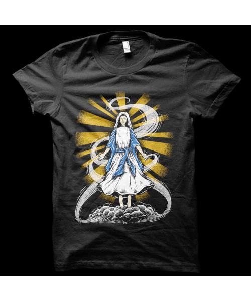 Camiseta Virgem Maria (BRILHA NO ESCURO!)
