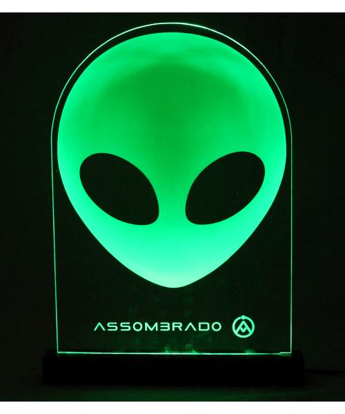 Luminária em Acrílico Com Fio: ET