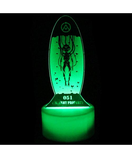 Luminária em Acrílico Sem Fio: ET no Tubo