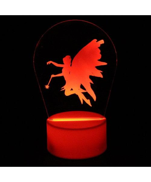 Luminária em Acrílico Sem Fio: Fada
