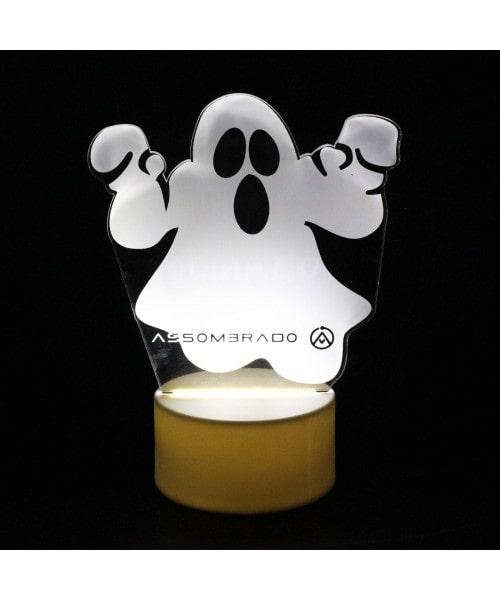 Luminária em Acrílico Sem Fio: Fantasma Base Branca