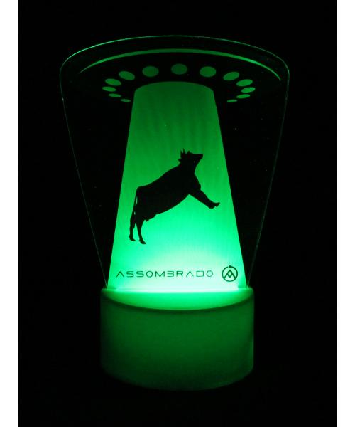 Luminária em Acrílico Sem Fio: Abdução Vaca