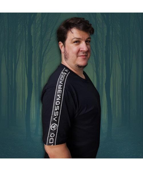 Camiseta Faixa no Ombro (Brilha no Escuro!)