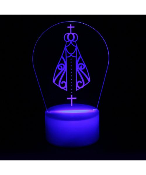 Luminária em Acrílico Sem Fio: Nossa Senhora Aparecida