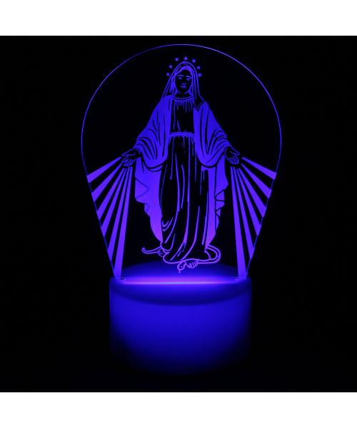 Luminária em Acrílico Sem Fio: Nossa Senhora das Graças