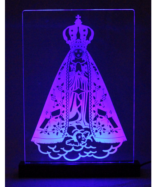Luminária em Acrílico Com Fio: Nossa Senhora Aparecida