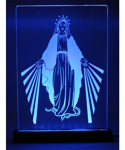 Luminária em Acrílico Com Fio: Nossa Senhora das Graças