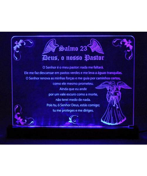 Luminária em Acrílico Com Fio: Salmo 23
